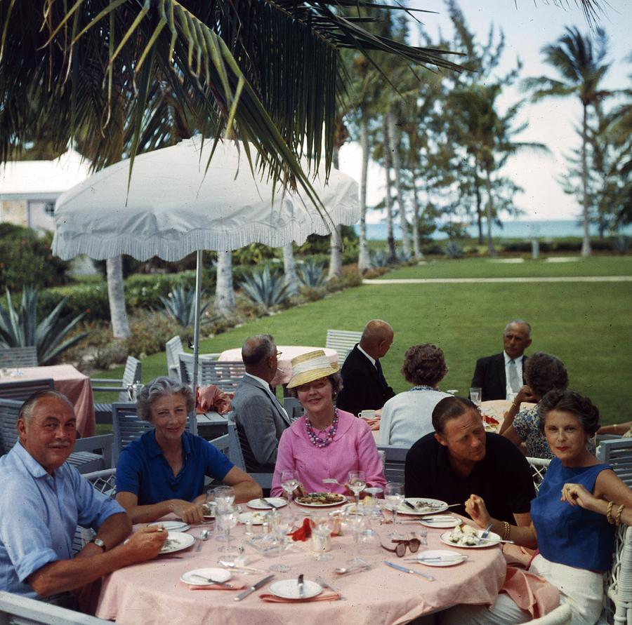 Al Fresco Luncheon Photograph by Slim Aarons