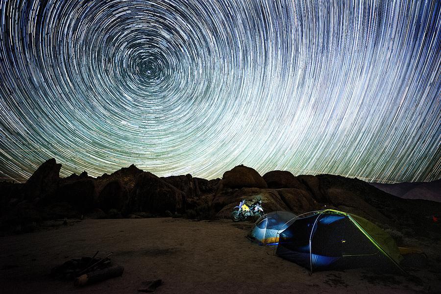 Alabama Hills - Star Trails 1 by Mati Krimerman