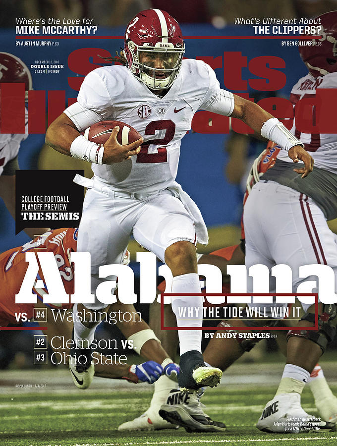 Alabama Why The Tide Will Win It, 2016 College Football Sports Illustrated Cover Photograph by Sports Illustrated