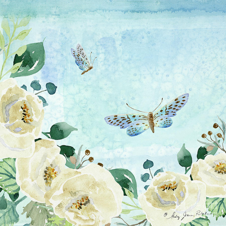 Alabaster Rose Garden in Blue 1 by Audrey Jeanne Roberts