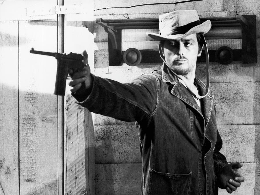 Alain Delon Aiming A Gun On A Film Set Photograph by Keystone-france