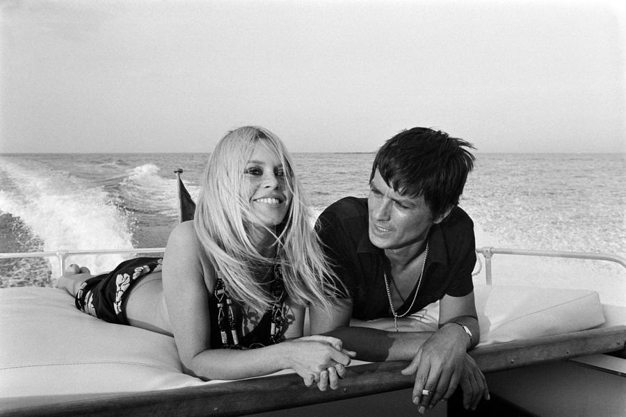 Alain Delon And Brigitte Bardot In Photograph by Jean-pierre Bonnotte