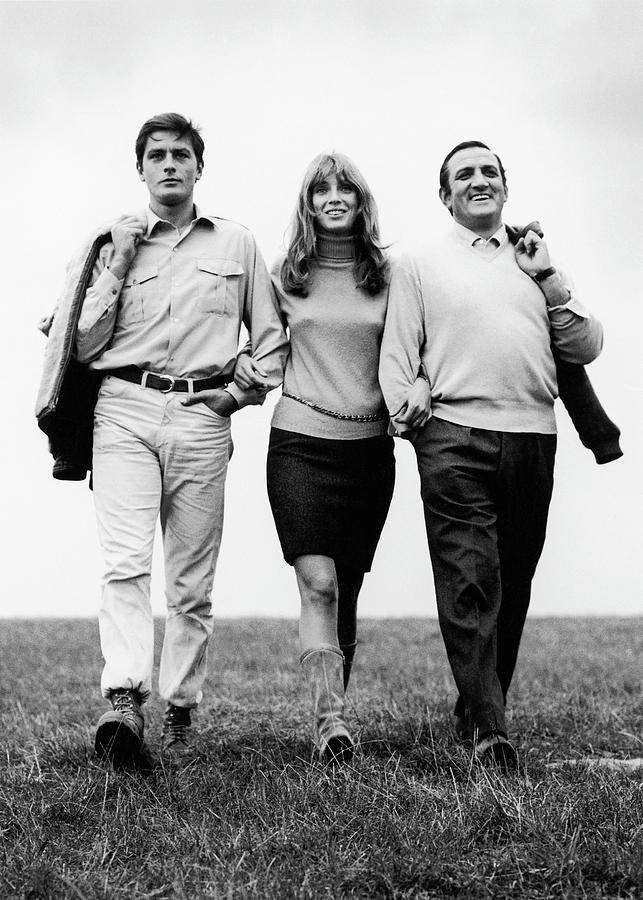 Alain Delon, Johanna Shimkus And Lino Photograph by Keystone-france