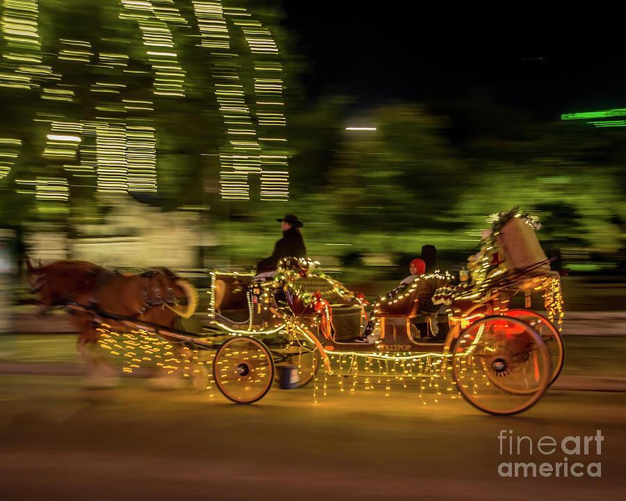 Alamo Plaza Christmas Carriage Ride     by Michael Tidwell