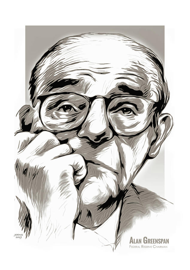 Alan Greenspan Mixed Media
