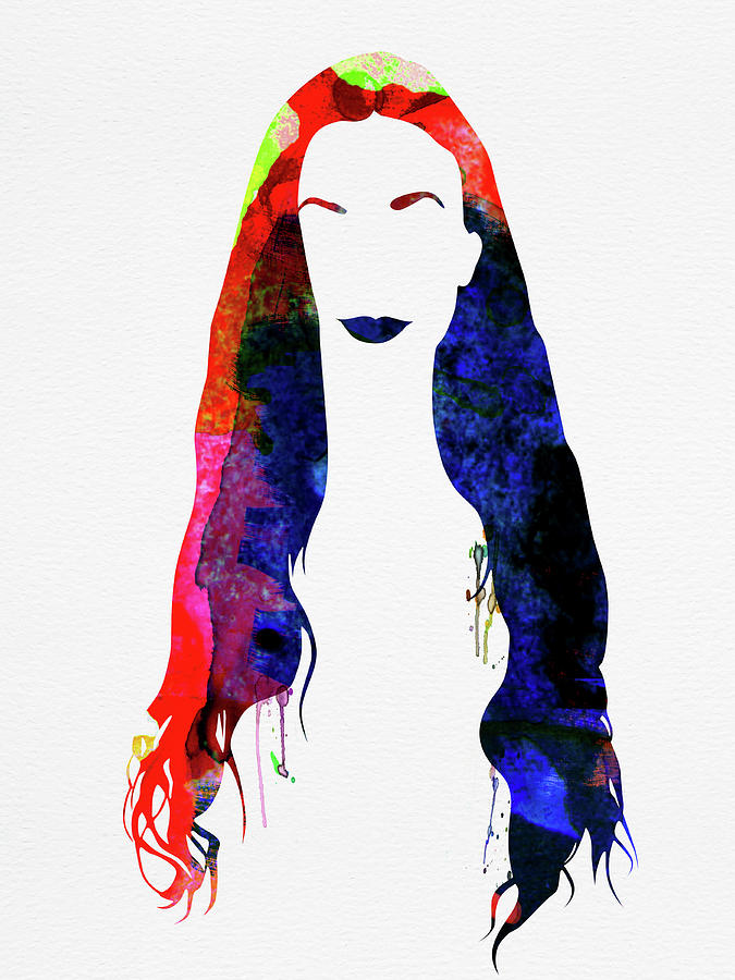 Alanis Morissette Mixed Media - Alanis Watercolor II by Naxart Studio