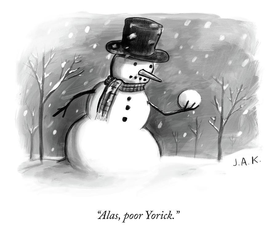 Alas, Poor Yorick Drawing by Jason Adam Katzenstein