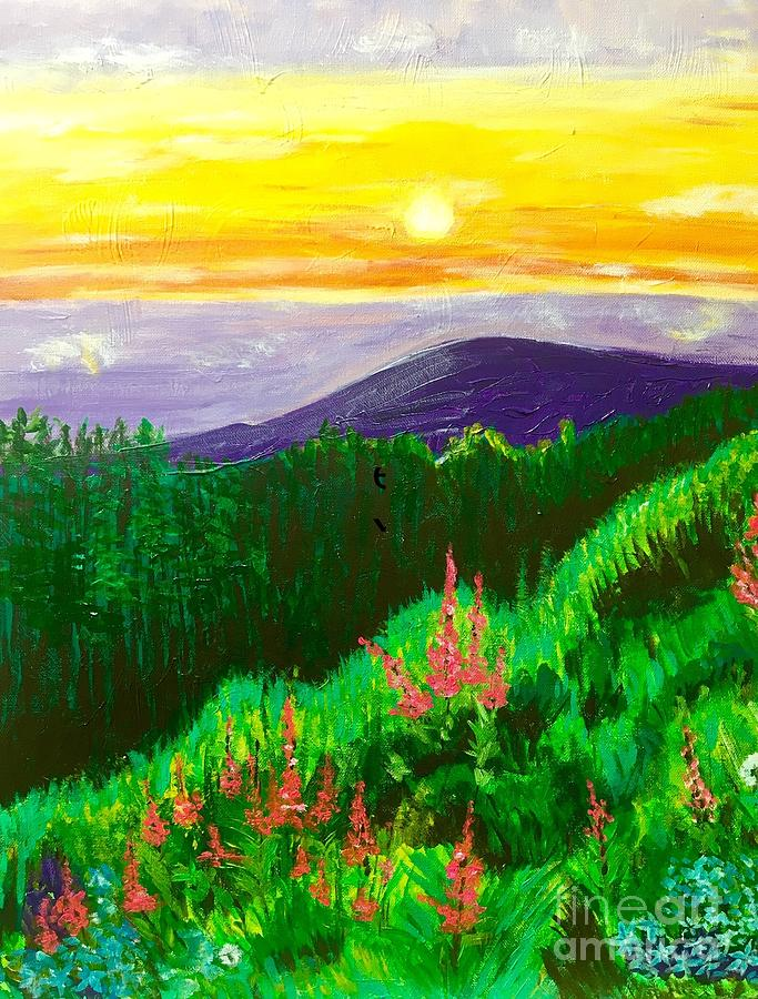 Summer Painting - Alaska Fireweed by Sheila J Hall