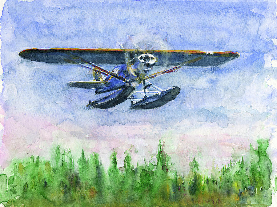 Alaska Float Plane by John D Benson