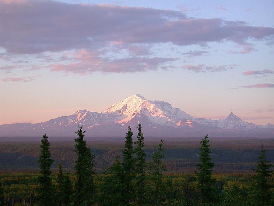 Alaska Mountain Sunset by Mark Duehmig