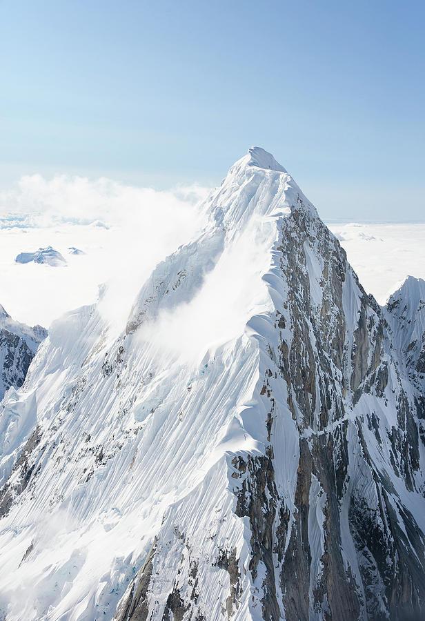 Alaskan Peak Photograph by Earleliason