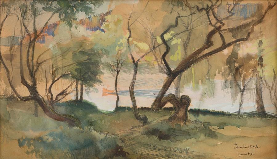 ALBERT EDELFELT, PARK VIEW, HAMEENLINNA by ALBERT EDELFELT