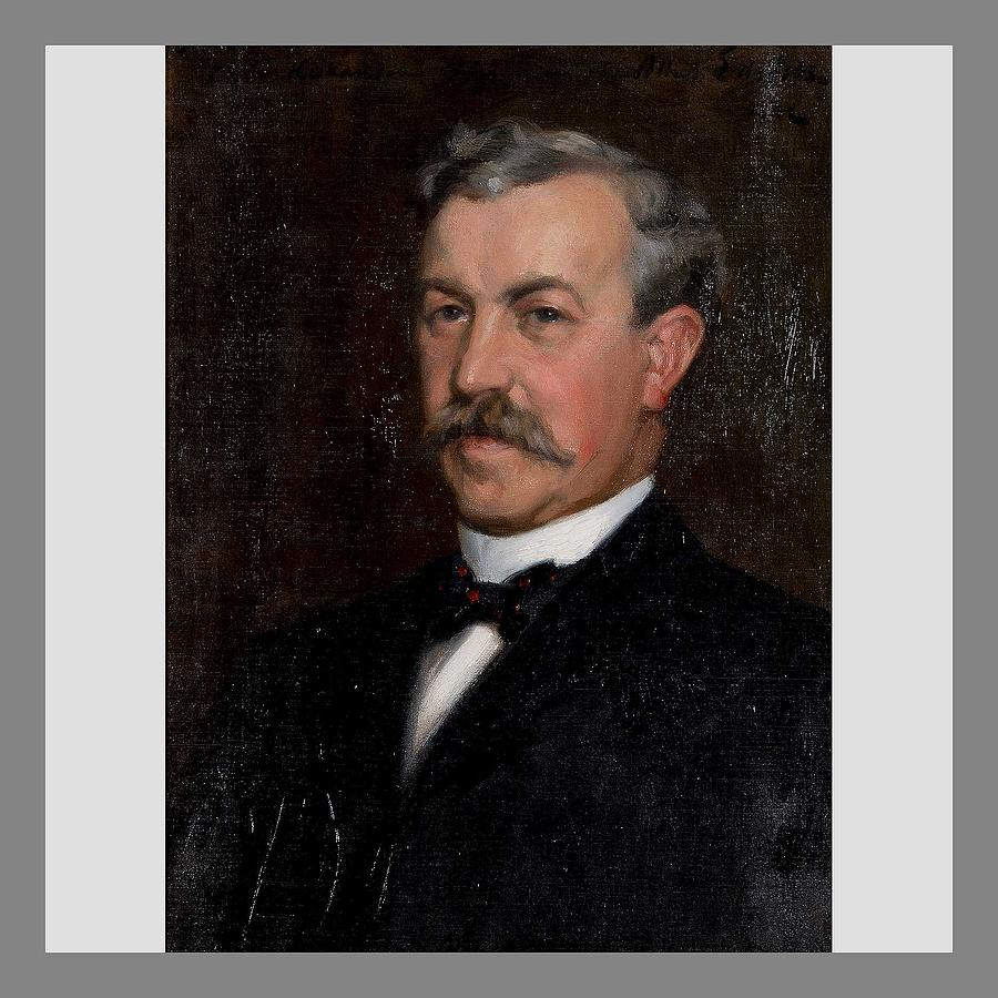 ALBERT EDELFELT, PORTRAIT OF DR. CLAES HAKANSON by ALBERT EDELFELT