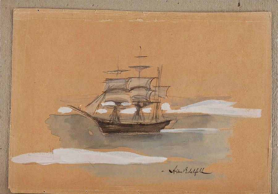 ALBERT EDELFELT, the boat by ALBERT EDELFELT
