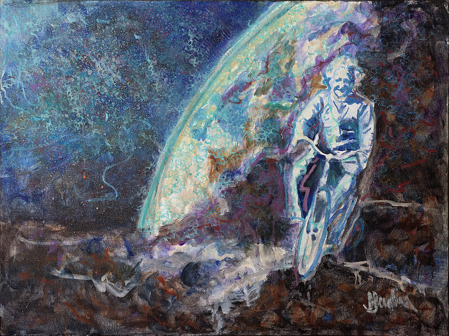 Einstein Painting - Albert Einstein by David Barkham