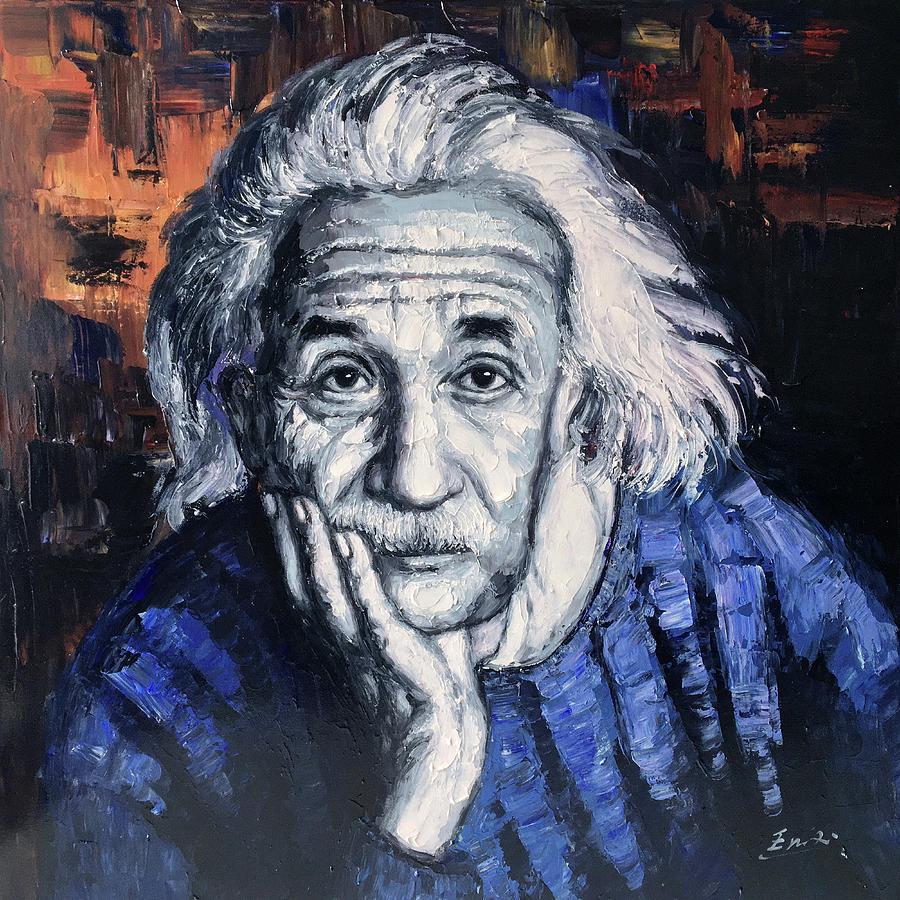 Einstein Painting - Albert Einstein by Enxu Zhou