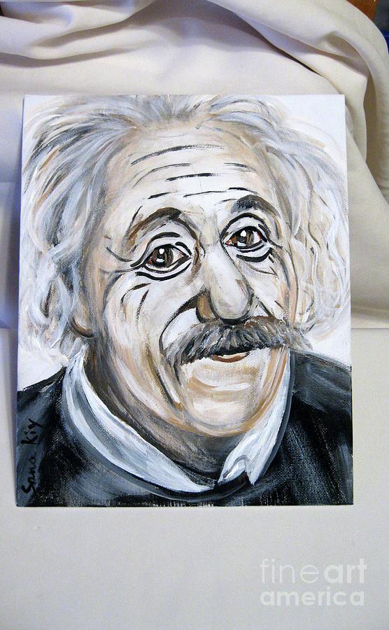 Albert Einstein by Oksana Semenchenko