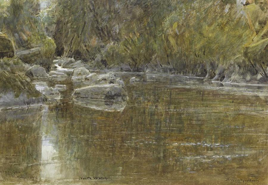 Albert Goodwin, R.W.S. 1845-1932 THE FAIRY GLEN, BETTWS-Y-COED, WALES by Albert Goodwin