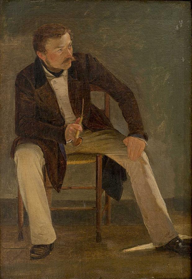 Albert Kuchler - The Painter Constantin Hansen by Albert Kuchler