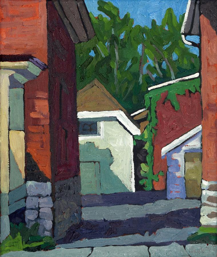 September Painting - Albert Street Alley by Phil Chadwick