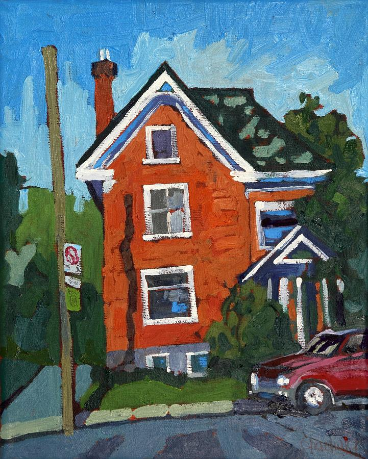 2181 Painting - Albert Street Dorms by Phil Chadwick