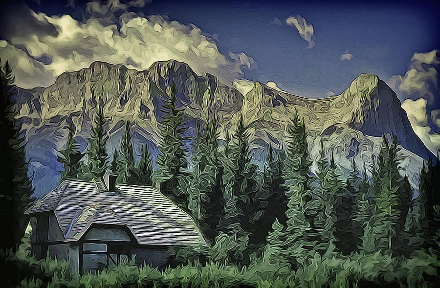 Alberta Mountain Scene by Richard Farrington
