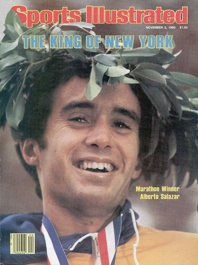 Alberto Salazar, 1980 New York City Marathon Sports Illustrated Cover Photograph by Sports Illustrated