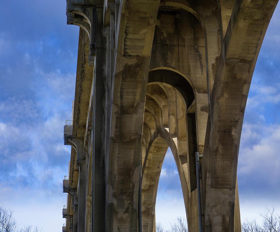 Albertus L Meyers Bridge - Below by Jason Fink