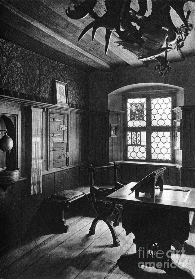 Albrecht Dürers Work Room, Nuremberg Drawing by Print Collector