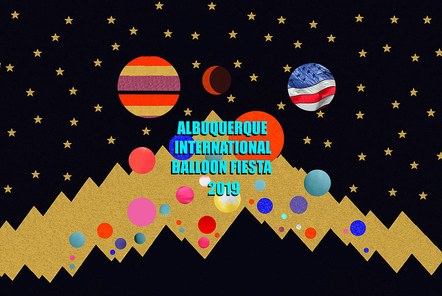New Mexico Mixed Media - Albuquerque International Balloon Fiesta 2019 Art B by David Lee Thompson