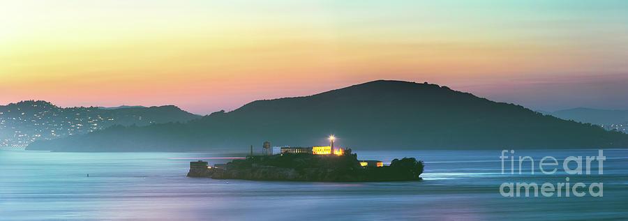 Alcatraz island in the bay at sunset, San Francisco, USA by Matteo Colombo
