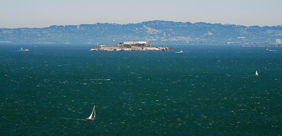 Alcatraz Prison in San Francisco Bay by Jordan Paw
