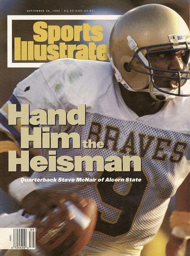 Alcorn State University Qb Steve Mcnair Sports Illustrated Cover Photograph by Sports Illustrated