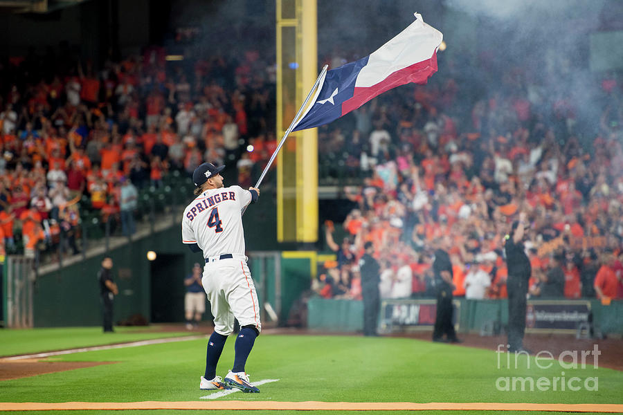 Alds Game One Houston Astros V Boston Photograph by Billie Weiss/boston Red Sox