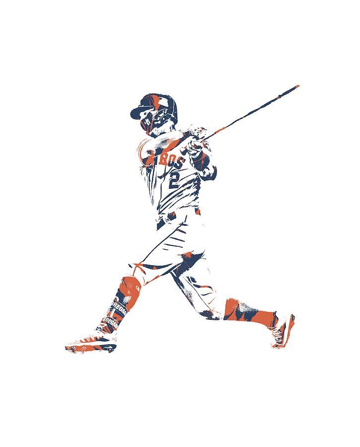 Alex Bregman Photograph - Alex Bregman Houston Astros Pixel Art Tshirt 1 by Joe Hamilton