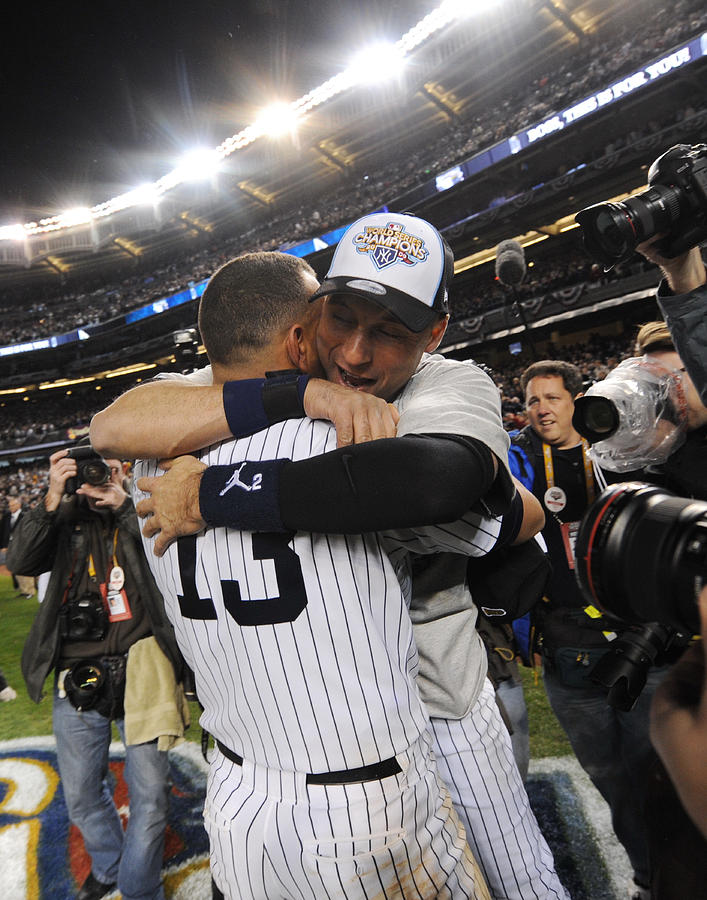 Alex Rodriguez And Yankee Captain Derek Photograph by New York Daily News Archive