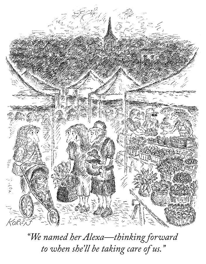 Alexa Drawing by Edward Koren