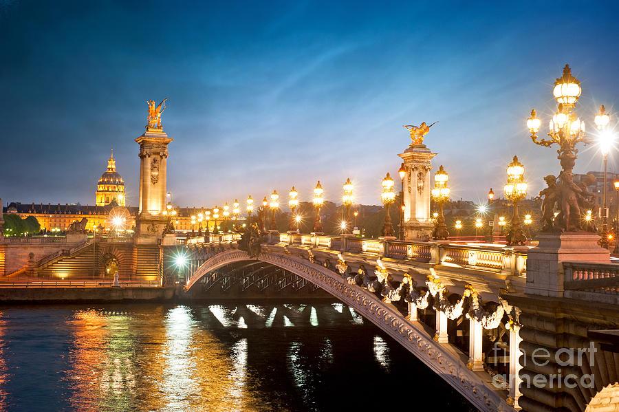 Capital Photograph - Alexandre 3 Bridge - Paris - France by Production Perig