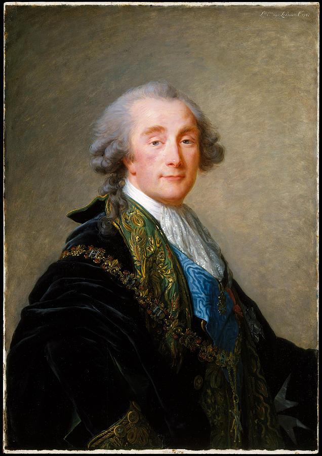 Elisabeth Painting - Alexandre Charles Emmanuel De Crussol Florensac        by Elisabeth Louise VigEe Le Brun