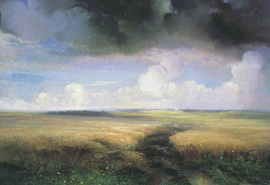 Nature Painting - Alexei Savrasov - Rye by Celestial Images