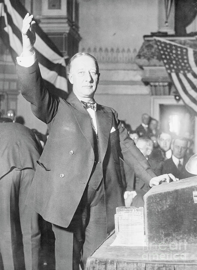 Alfred E. Smith Gesturing Photograph by Bettmann