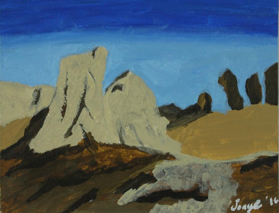 Algeria  Painting by Sonye Locksmith