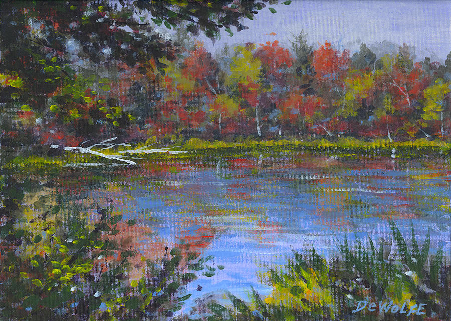 Algonquin Lake Sketch Painting