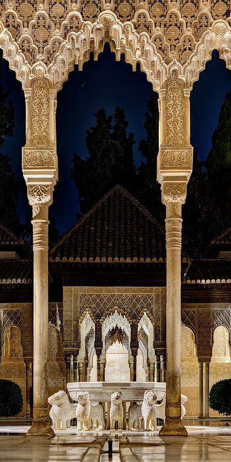 Alhambra Court of the Lions 02 by Weston Westmoreland