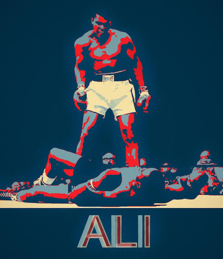 Ali Pop Art by Dan Sproul