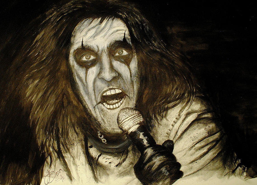 Alice Cooper Live Drawing