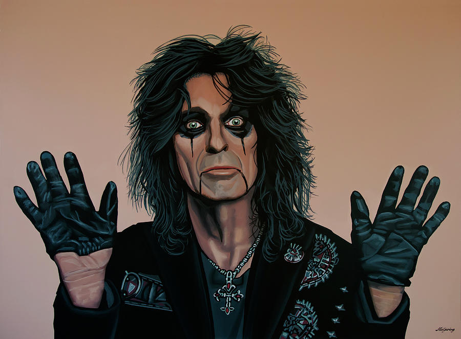 Alice Cooper Painting 2 by Paul Meijering