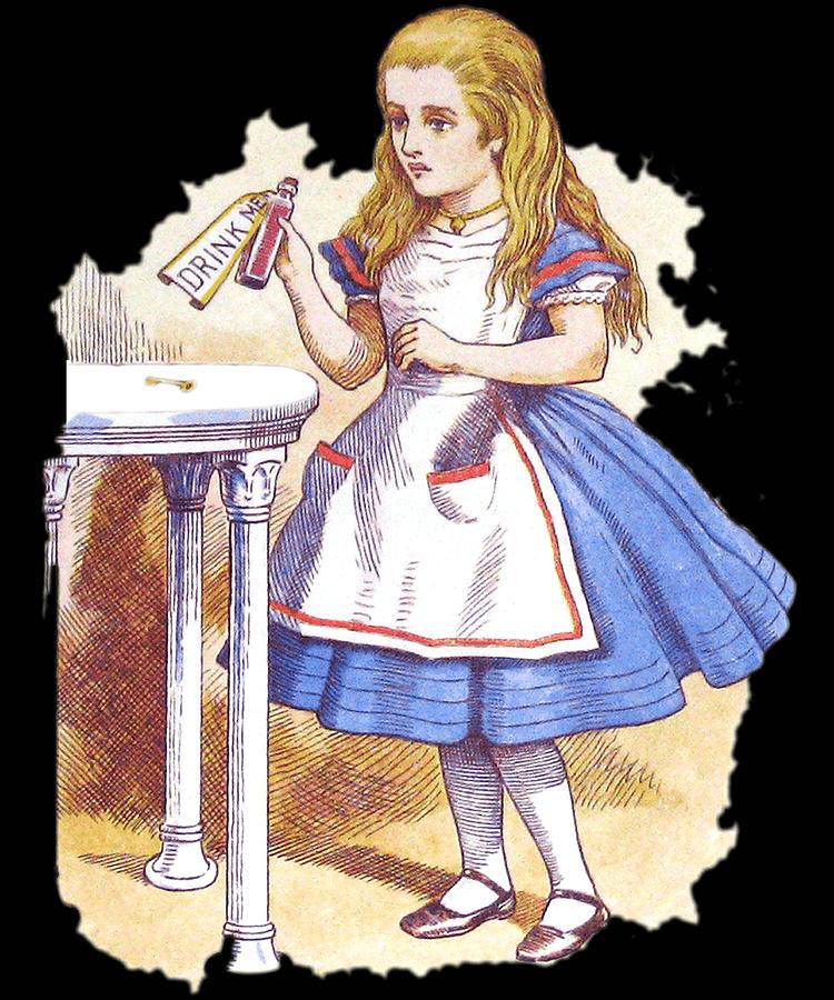 Cool Digital Art - Alice In Wonderland Vintage by Flippin Sweet Gear