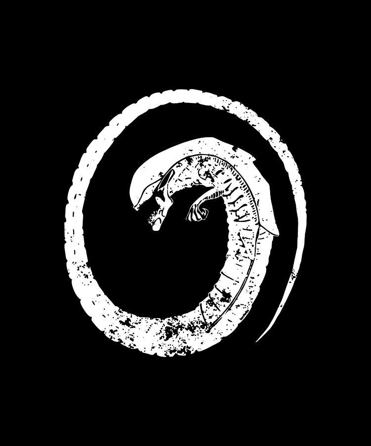 ALIEN CHESTBUSTER sci fi chestburster geek ufo et funny birthday gift  computer Digital Art by Caleb Osborne