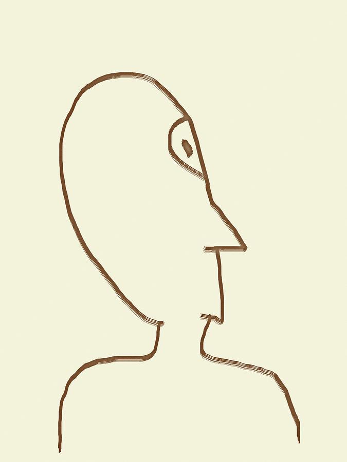 Alien Face Line Art 03 by Prakash Ghai